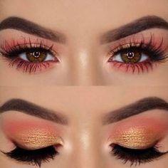 Prueba la tendencia #MakeupPeach #Orange #Makeup #Maquillaje #Eyes
