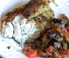 Creole Catfish with Vidalia-Olive Relish