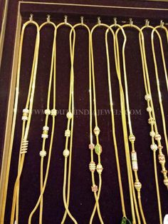 Light Weight Gold Chains From Bhavani Jewellers ~ South India Jewels Real Gold Jewelry, Gold Jewelry Simple, Luxury Jewelry, Diamond Jewelry, Pearl Necklace Designs, Gold Earrings Designs, Gold Chain Design, Gold Jewellery Design, Chains For Men