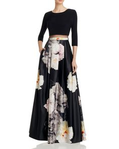 Dylan Gray Illusion-Waist Gown