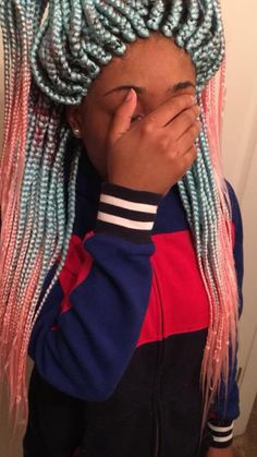 Interesting colors but this is exactly how you loose your edges🤣😅 Faux Locs Hairstyles, Cool Braid Hairstyles, African Braids Hairstyles, Black Girls Hairstyles, School Hairstyles, Protective Hairstyles, Protective Styles, Hairstyle Ideas, Black Girl Braids
