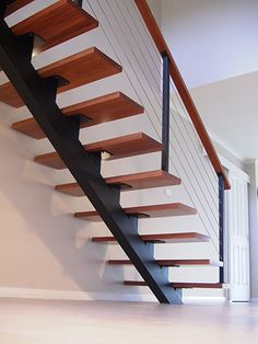 30 Beautiful Metal Stairs Ideas In 2019 Browse photos of staircases and discover design and layout ideas to inspire your own staircase remodel, including unique railings and storage options. Stair Railing Design, Stair Handrail, Stair Decor, Railing Ideas, Diy Stair, Metal Handrails For Stairs, Steel Stairs Design, Winder Stairs, Staircase Metal