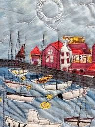 Ineke Berlyn & Art Textiles: Made in Britain Ineke Berlyn Patchwork Quilting, Applique Quilts, Embroidery Applique, Machine Embroidery, Art Quilting, Quilting Ideas, Fabric Postcards, Fabric Cards, Textile Fiber Art
