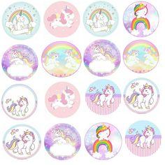 Party Unicorn, Unicorn Themed Birthday, Unicorn Birthday Invitations, Unicorn Cupcakes, Rainbow Unicorn, Image Arc En Ciel, Diy And Crafts, Crafts For Kids, Unicorn Printables