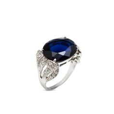 You'll look and feel regal wearing the lush, deep blue Alyssia Ring. One can't help but get lost in Alyssia's luminous, ocean like depths. This CZ-adorned stand out will elevate any ensemble effortlessly.  Find it on Splendor Designs