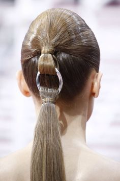 Chanel's featured ponytail
