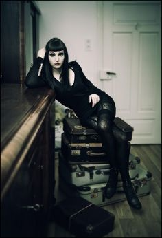 Sophisticated Goth girl | Want more hot goth fashion? Follow our board here --> http://www.pinterest.com/thevioletvixen/goth-girl/