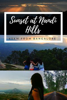 Sunset at Nandi Hills   Bangalore to Nandi Hills   Long Drive   Beautiful Sunset    Nandi Hills Sunset