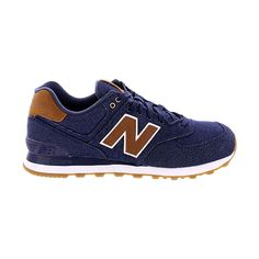 pretty nice 9a275 c2196 New Balance - Men s Denim 574 Sneaker - Navy Zapatillas New Balance, Moda  Para Niñas