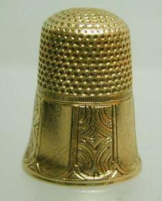 ✿ڿڰۣ(̆̃̃❤Aussiegirl #GOLD #FEVER  1860 gold thimble