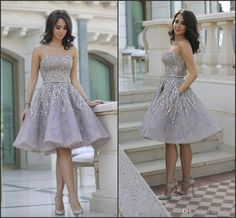 Image result for knee length prom dresses