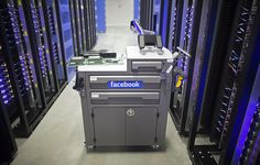 "A tool and maintenance box, also known as a ""crash cart,"" stands in the server hall at Facebook's new data storage center near the Arctic Circle in Lulea, Sweden. The data center is Facebook's first outside the U.S..."