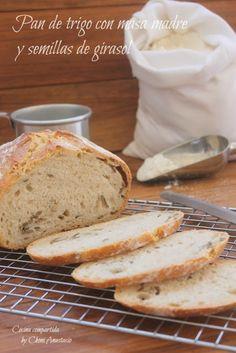 Cocina compartida: PAN DE TRIGO CON MASA MADRE Y SEMILLAS DE GIRASOL Thermomix Bread, Bread Recipes, Bakery, Cooking, Babys, Food, Breads, Noodle, Recipes
