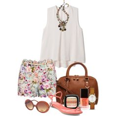 A fashion look from August 2014 featuring Forever New shorts, Alexander McQueen sandals and Carvela Kurt Geiger handbags. Browse and shop related looks.