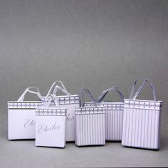 Make Printable Dolls House Miniature Bags For A Shop Scene: General Instructions To Make Miniature Shop Bags