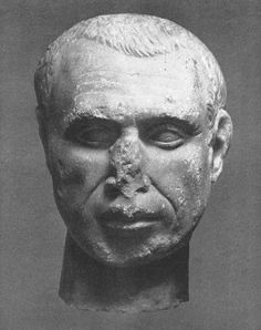 Head of a man. Thirties of the century BCE. Moscow, the Pushkin Museum of Fine Arts Roman Republic, 1st Century, Museum Of Fine Arts, Warfare, Moscow, Marble, Statue, Artwork, Work Of Art