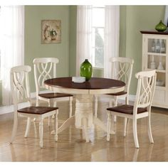 French Country 5-pc. Dining Set but long table instead