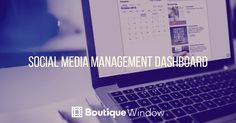 The Social Media Management Dashboard make managing social media activities quick and easy.