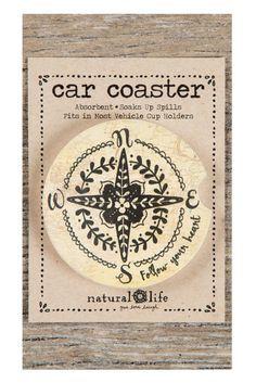 Natural Life Car Coaster Follow Your Heart