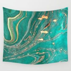 Ocean Gold Wall Tapestry