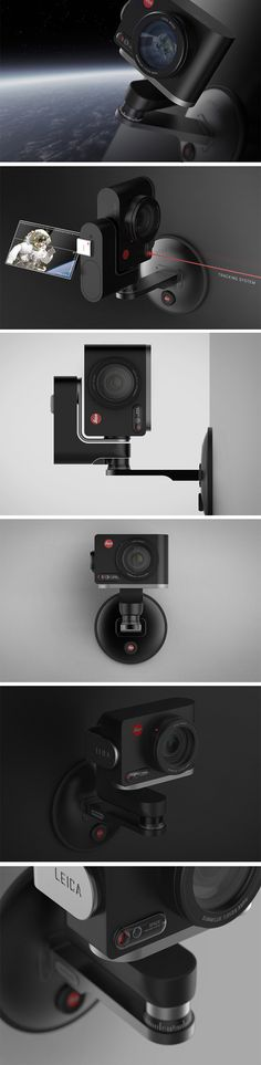 Designed for use in zero gravity situations, Leica Space aims to produce out-of-this-world photography! This modern action cam is equipped with a three-axis motorized gimbal system that allows users to take pictures of a subject in a gravity-free space or spacecraft, or autonomously using a laser tracking system that follows subjects as they float around!
