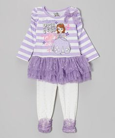 Take a look at this Purple  Just Call Me Princess  Tunic   Leggings -  Toddler   Girls by Disney on today! 1be63f030