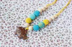 Nursing necklace for breastfeeding mom  Sling by NecklacesForMommy, $22.00