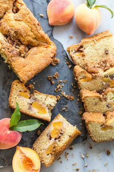A super buttery peach coffee cake full of fresh ripe peaches and topped with a brown sugar pecan crunchy crumble.