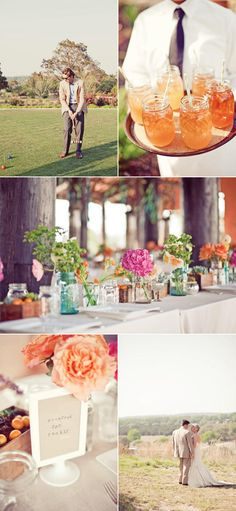 love the table decor at this Austin wedding via SMP.