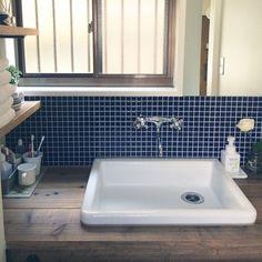 Bathroom/洗面所/タイル/足場板/リノベーション/カクダイ...などのインテリア実例 - 2015-06-01 06:57:28 | RoomClip (ルームクリップ)