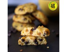 Coconut Flour Chocolate Chip Cookies - Healthier Holiday Cookie Recipes | Eat This, Not That