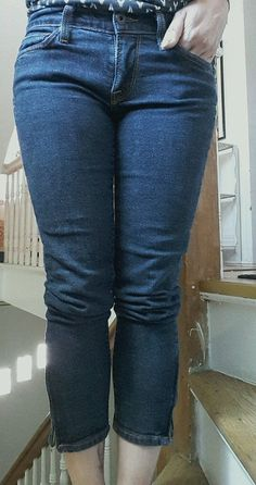 LUCKY BRAND CAPRIS ZOE SKINNY JEANS DARK WASH ZIPPER ANKLE CROPPED 4  / 27  #LuckyBrand #CapriCropped