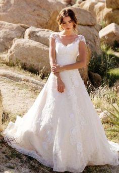 Featured Dress: Lea-Ann Belter, Featured Photographer: Tim Melideo, Model: Officially Quigley; Wedding dress idea.