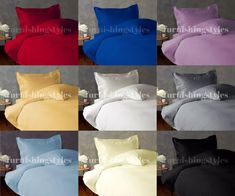 EGYPTIAN COTTON T200 DUVET COVER SET WITH PILLOW CASES BEDDINGS