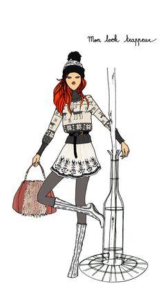 fashion illustration by quenalbertini - Angéline Mélin illustration-via preview.doitinparis...