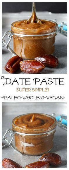 Date Paste (Paleo, Whole30, Vegan)- so simple to make and so delicious! 2 easy steps! Alkaline Vegan with Dr Sebi approved ingredients