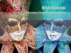 Mardigras Mask Art PowerPoint Templates And PowerPoint Backgrounds 0711 #PowerPoint #Templates #Themes #Background
