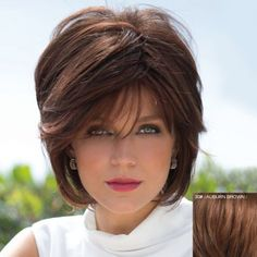 Bouffant Natural Straight Capless Fashion Short Side Bang 100 Percent Human Hair Wig For Women (30#) in Capless Wigs   DressLily.com