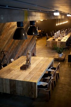 Wooden office space