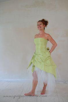 Robe de mariée couleur verte courte.  Robes de mariées couleur ...