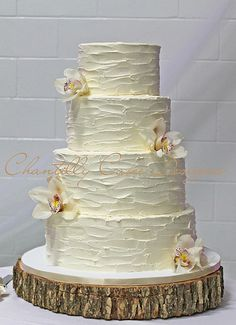Rustic Buttercream Wedding Cake | by cakespace - Beth (Chantilly Cake Designs)