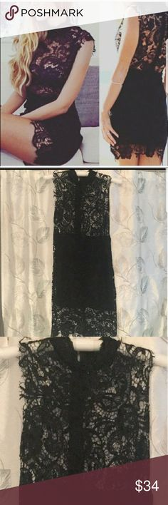 NWOT Black Lace dress Never worn! NWOT Can do discounted shipping. Dresses