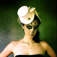 Chenille dot veil makes this hat perfect for vamps, vixens, awesome brides, lovers of dress up, tea party goers and throwers, ghosts, burlesque queens, modern Maries or anyone who is generally cool.
