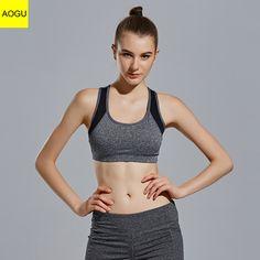 bfbe0757f Hot selling custom fitness wear sexy plus size lady s sport bra for women  Sports Vest