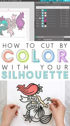 How to Cut by Color with the Silhouette - learn this simple trick to make cutting multi-colored, layered vinyl designs super simple! Full Silhouette Studio video tutorial.