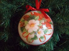 "Decoupage Christmas ball/decoration for the Christmas tree-Christmas bauble ornament ""Masterpiece"""