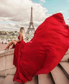 Red Fashion in Paris