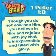 1 Peter 1:8 verse printable and free, short devotional.  www.whatsinthebible.com