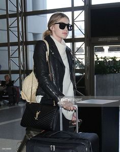 Gigi Hadid is seen out and about arriving at LAX on January 15, 2016 in Los Angeles, California.