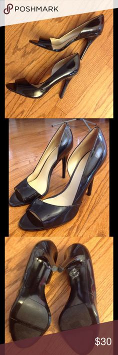 Gorgeous Patent (non-leather) peep toe heels Perfect from office to a night out on the town. Super clean, like new condition. Nine West Shoes Heels Peep Toe Heels, Shoes Heels, Tap Shoes, Dance Shoes, Super Clean, Nine West Shoes, Fashion Tips, Fashion Trends, Fashion Design